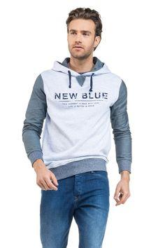 Camisolas & Casacos tricotados | Camisola de manga comprida com capuz e gráfico