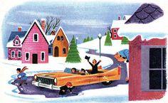 "George De Santis illustration for ""The Littlest Snowman"""