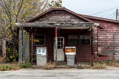 Kosse, Texas - Old Gas Pumps Gas Station - Our Ruins