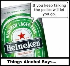 Things alcohol says.