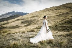 Rustic bride in the Queenstown mountains Elope Wedding, Post Wedding, Wedding Day, Wedding Dresses, Mountain Weddings, Relaxed Wedding, Stella York, Elopements, Outdoor Ceremony