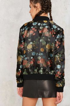 Nasty Gal In Season Jacquard Bomber Jacket | Shop Clothes at Nasty Gal!