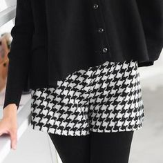 Houndstooth Shorts from #YesStyle <3 59 Seconds YesStyle.co.uk
