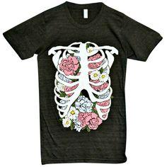 'Floral Rib Cage' Shirt