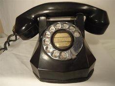 Antique Telephone 1930s Automatic Electric Monophone 40 Rotary Vtg Bakelite Deco
