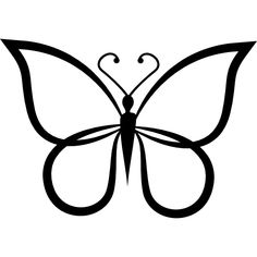 butterfly outline side drawing clip detailed wings tattoo simple template stencil icon shape flaticon freepik designed icons