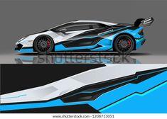 Sport Racing Car Wrap Decal Sticker Stock Vector (Royalty Free) 1208713051 Racing Car Design, Sports Car Racing, Race Cars, Mitsubishi Lancer Evolution, Car Goals, Racing Stripes, Car Wrap, Bmw Cars, Lamborghini