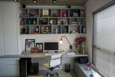 Área de trabalho em casa: ideias para home-office!  https://www.homify.com.br/livros_de_ideias/35089/area-de-trabalho-em-casa-ideias-para-home-office