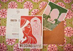 Vintage Indian Wedding Invitations