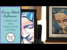 Turning art into cross stitch patterns using MacStitch - Peacock & Fig