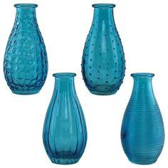 Blue Glass Bottle Collection | Wedding Vases | Afloral.com Wedding Supplies