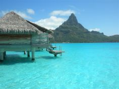 The best thing about the over-water bungalow at InterContinental Bora Bora Resort & Thalasso Spa was the fact we could jump into the water. Vacation Places, Dream Vacations, Vacation Trips, Vacation Spots, Places To Travel, Places To See, Vacation Ideas, Bora Bora Resorts, Dreams Resorts