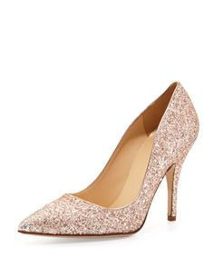 licorice too glittered pointy pump by kate spade new york at Neiman Marcus.