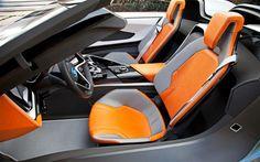Futuristic Car, BMW I8 Concept Spyder Interior Seats