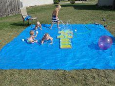 Homemade Summer Splash Mat for outside
