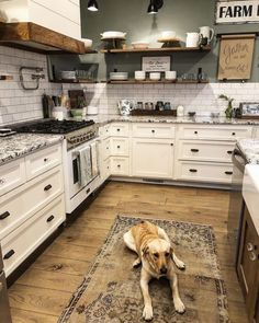 Loving everything about this kitchen! By @designfoxx #rustic #rustictheme #rusticdecor #rustichomes #walldecor #farmhouse #fixerupper…