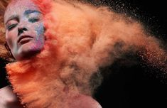 exploding makeup- high speed photography