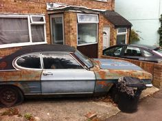 Rusting Ford Capri, Swindon Escort Mk1, Ford Escort, Abandoned Vehicles, Abandoned Cars, Ford Vehicles, Rust In Peace, Mk 1, Ford Capri, Rusty Cars