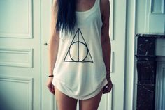 Deathly Hallows Tank! I waaaaant. The HP nerd in me is showing itself...