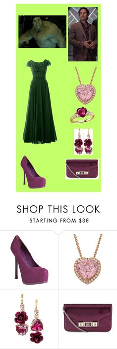 """""""Evening Gowns: Hulk / Bruce Banner"""" by hayzkidrocky ❤ liked on Polyvore featuring Yves Saint Laurent, Betsey Johnson, Proenza Schouler, men's fashion and menswear"""