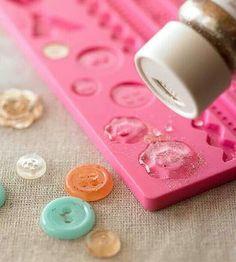 Homemade resin buttons