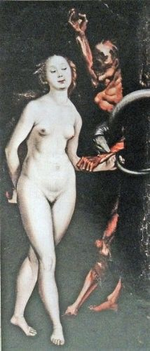 Hans Baldung Grien  6  x 13  Nude Color Illustration  painting print art  Eve   Life Magazine Art