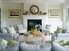Shop Design Chic - Design Chic - Lynn Morgan Interiors with the most serene shade of blue - perfect for the beach decor