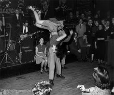 1950 rock n roll  clothing teen | Rock 'n' Roll at a Berlin Dance Hall (1955)
