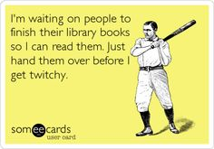 Hand over the books before someone gets hurt!