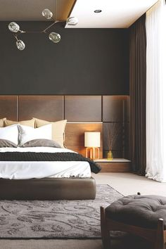 Best Home Bedroom Furniture Interior Design Ideas Hotel Room Design, Bedroom Bed Design, Modern Bedroom Design, Bedroom Sets, Home Bedroom, Bedroom Decor, Bedroom Wall, Wall Decor, Target Bedroom