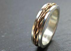 celtic wedding band men gold braided wedding ring viking