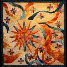 sunburst quilt | Sunburst awarded Best Use of Color, Tri-State Quilt ... | Quilts & Af ...