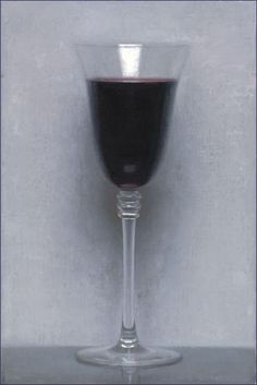 Conor Walton, Wine, oil on linen 12 x 8 inches, 2014