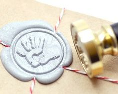 B20 Wax Seal Stamp Baby Shower Hand Handprint