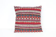 Cushion Cover Pillow Case Ethnic Cotton Fabric by HomemadeThailand