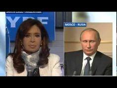 """Videoconferencia con Vladimir Putin / """"El desarrollo veloz de los medios de comunicación electrónicos adquirió un significado enorme, hasta se convirtió en un arma temible, que en el caso de así quererlo permite manipular la conciencia social"""", comentó el Presidente de la Confederación Rusa."""