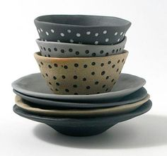 Little Uns by Brisbane-based ceramicist Mel Robson - at the Little Uns ceramics exhibition at Pomme, Mornington, Victoria. Ceramic Bowls, Ceramic Pottery, Artisan & Artist, Ceramic Texture, Kitchenware, Tableware, Indie Art, Sculpture Clay, Ceramic Artists