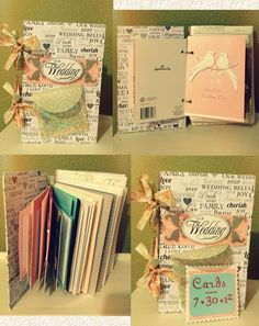 Wedding Card Book ~ Wanted to save all the pretty cards I got and look at them when I wanted! Super easy and cute. Wedding Card Book, Wedding Cards Keepsake, Wedding Keepsakes, Post Wedding, Dream Wedding, Wedding Ideas, Wedding Shadowbox, Wedding Album, Diy Wedding