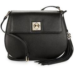 Karl Lagerfeld Paris Devon Crossbody Bag (305 CAD) ❤ liked on Polyvore featuring bags, handbags, shoulder bags, black, black crossbody, crossbody shoulder bags, black leather handbags, crossbody purse and leather cross body purse