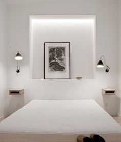^Residential Interior Design - Scandinavian Minimalist by NORM Architects ~ Interiors and Design Less Ordinary Minimal Bedroom, Clean Bedroom, Bedroom Modern, Calm Bedroom, Peaceful Bedroom, Residential Interior Design, Interior Architecture, Mini Loft, Built Ins