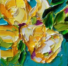 Daffodil Painting  Home Decor  Jan Ironside   by IronsideImpastos