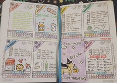 What a week looks like on my #bulletjournal with lots of #lawnfawn stamps and color! #bujo #bujojunkies