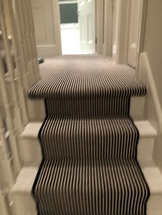 Black White Stripes, Black And White, Striped Carpets, Painted Stairs, Carpet Stairs, Magpie, Carpet Runner, Flooring, Terrace
