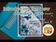 Stamp TV April 2016 Release I love this technique! You can do it with whatever card stock you have on hand as well. Gina makes such lovely cards!