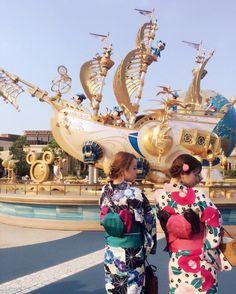【PR】浴衣ディズニーぽんりさで行ってきました\(^o^)/♡楽しかった〜♡ #夏5でやってみた#浴衣で帯マウス