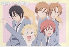 Kimi to Boku! Ive watched some of this, and it has been a sweet and funny anime so far :) Its a little uneventful as its a slice of life anime, but I still think its a nice and relaxing anime to watch so far ^-^ Anime Forum, Manga Anime, Slice Of Life Anime, High School, List Of Characters, Manga Games, Awesome Anime, Cute Boys, Comics