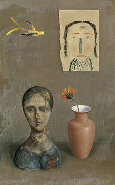 Rudolf Wacker (Austrian, 1893-1939), Two Heads, 1932. Oil on plywood, 100 x 63 cm.viaamare-habeo