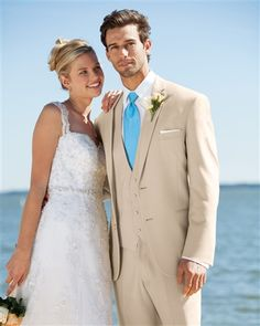 Lord West | 252. For a stylish, warm weather ensemble, the Tan Havana suit is a fashion-forward choice. Tailored in an ultra fine Poly/Wool blend with a contemporary notched lapel. The light color makes it an inspired choice for casual and semi-formal warm weather weddings. Pair with matching flat front, modern slim fit pants.  #azaria #azariabridal #prom2017 #tuxedo #suit #formalwear #handsome #neat #elegant #loveforlove #likeforlike #followforfollow #heartforheart #choose #achieve #rental…
