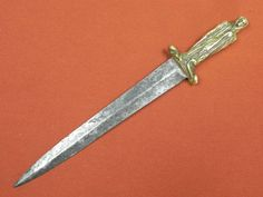 Antique 18 Century French France or British English Fighting Knife Dagger