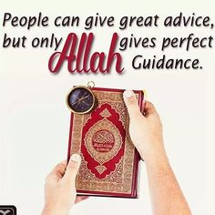 People can give great advice but only Allah gives perfect Guidance وَاللَّهُ يَهْدِى مَن يَشَآءُ إِلَى صِرَاطٍ مُّسْتَقِيمٍ And Allah guides whom He wills to the straight path Quran 2:213